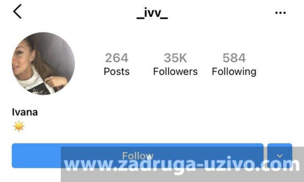 Ivanin profil na Instagramu